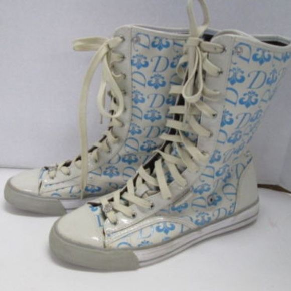 Dereon High Top Print Tennis Shoes Size